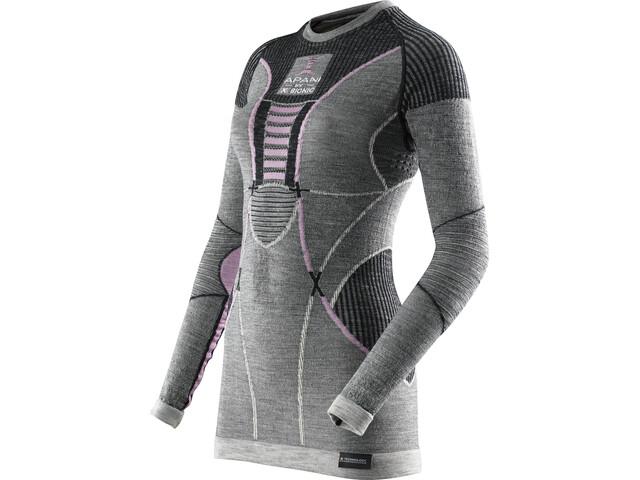X-Bionic Apani Merino By Fastflow UW LS Roundneck Shirt Damen black/grey/pink